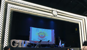 The stage at the George Town Literary Festival