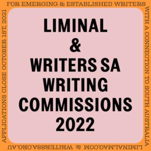 Liminal x Writers SA Writing Commissions