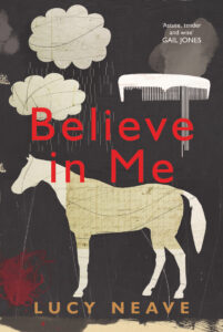 cover of 'Believe in Me' featuring a graphic of a horse